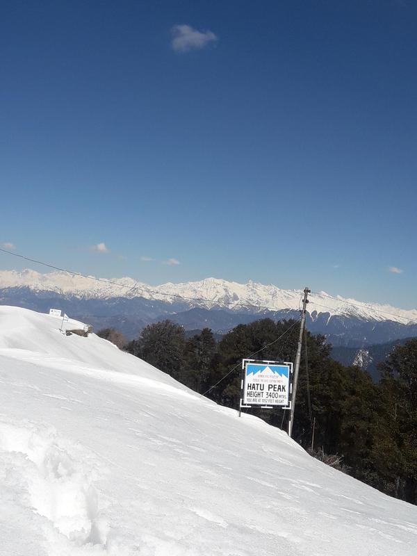 Hatu peak Snow trek