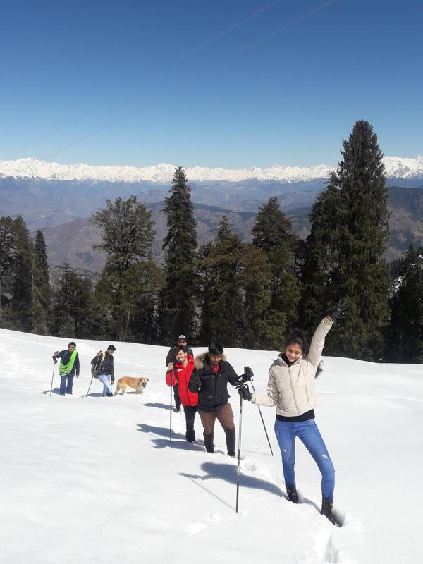 Snow trek with panoramic views