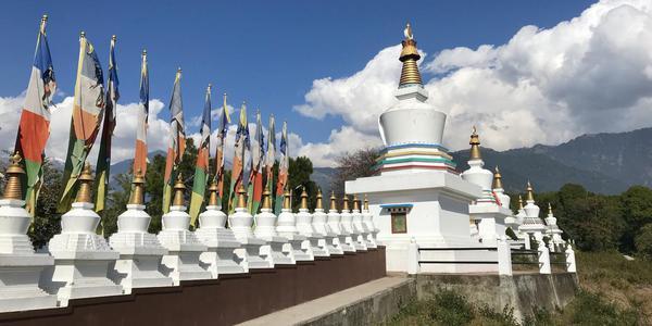 Stupa at Sherabling Monastery