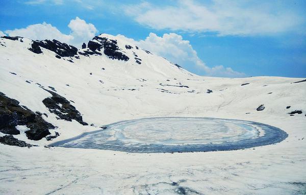 Frozen Bhrigu Lake