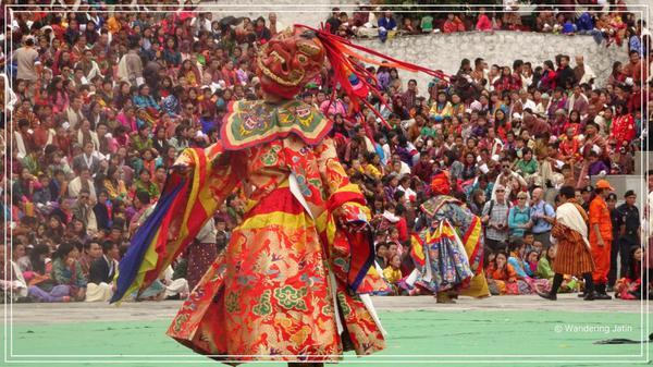 At Thimphu Tshechu - cultural festival, Bhutan