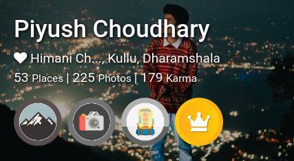 Piyush Choudhary's traveler profile on MyWanderlust.in