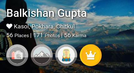Balkishan Gupta's traveler profile on MyWanderlust.in