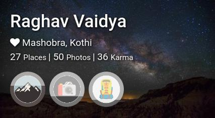 Raghav Vaidya's traveler profile on MyWanderlust.in
