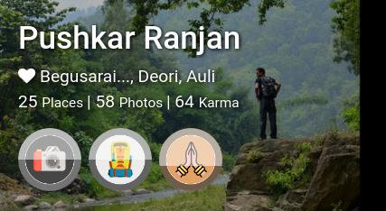 Pushkar Ranjan's traveler profile on MyWanderlust.in