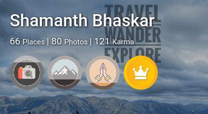 Shamanth Bhaskar's traveler profile on MyWanderlust.in