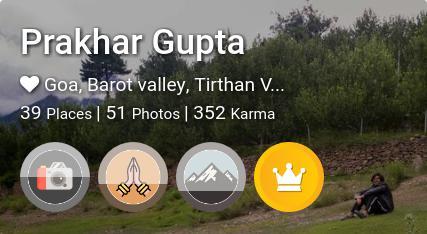 Prakhar Gupta's traveler profile on MyWanderlust.in