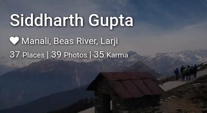 Siddharth Gupta's traveler profile on MyWanderlust.in