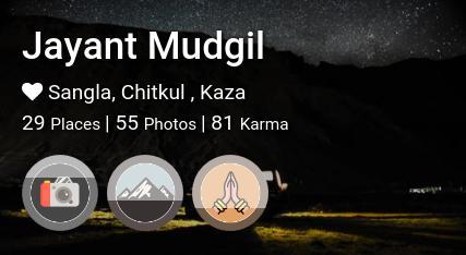 Jayant Mudgil's traveler profile on MyWanderlust.in