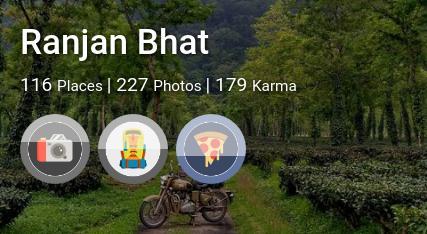 Ranjan Bhat's traveler profile on MyWanderlust.in