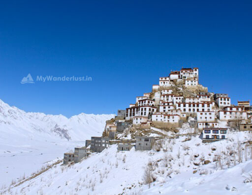 Key Monastery Winter Spiti